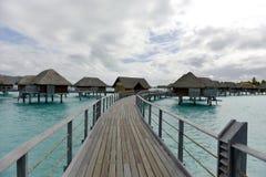 Biała piasek plaża w Polynesia Obrazy Stock