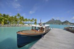 Biała piasek plaża w Polynesia Obrazy Royalty Free