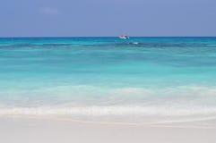 Biała piasek plaża w Tajlandia Obraz Stock