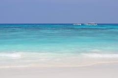 Biała piasek plaża w Tajlandia Zdjęcie Stock
