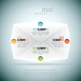 Biała poczta Infographic Fotografia Stock