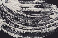 Biała podłoga na czarnym tle, abstrakcjonistyczna tekstura Obrazy Royalty Free