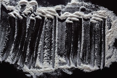Biała podłoga na czarnym tle, abstrakcjonistyczna tekstura Zdjęcie Stock