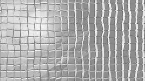 Biała poligonalna geometryczna powierzchnia komputer wytwarzający bezszwowej pętli ruchu abstrakcjonistyczny tło Zdjęcia Royalty Free