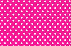 Biała polki kropka z różowym tłem Zdjęcie Stock