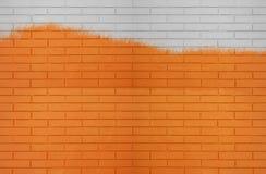 Biała Pomarańczowa kolor ściany z cegieł tekstura dla graficznych tło wizerunków zdjęcia stock