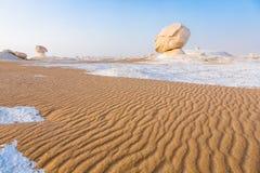 Biała pustynia przy Farafra w Sahara Egipt zdjęcia stock