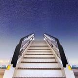 Biała rampa w lotnisku obraz royalty free