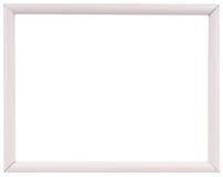 Biała rocznik rama odizolowywająca na bielu Bielu ramowy prosty projekt Zdjęcie Stock