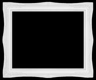 Biała rocznika stylu rama obraz royalty free