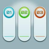 Biała rozkład informacja w postaci próbek z liczbami i iluminować w różnych kolorach Zdjęcie Royalty Free