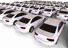 Biała samochodowa flota ilustracja wektor