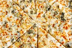 Biała Serowa pizza zdjęcie stock