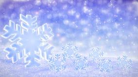 Biała snowfalling tło pętla - zima temat zbiory