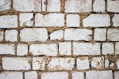 Biała stara duża bloku abstrakta tapeta Zdjęcia Stock