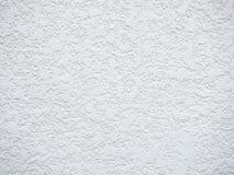 Biała szorstka betonowej ściany tekstura Obrazy Royalty Free