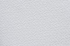 Biała tekstura zaszyty płótno Obraz Stock