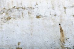 Biała tynk ściana brudny Zdjęcie Royalty Free