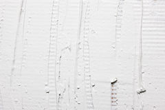 Biała tynk ściana, zbliżenie Szorstka sztukateryjna tekstura zdjęcia royalty free