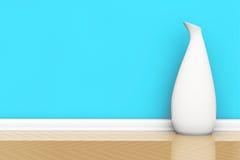 Biała waza na podłoga royalty ilustracja