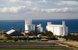 biała wieża silosu Zdjęcie Stock