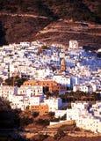 Biała wioska, Competa, Hiszpania. zdjęcie stock