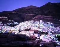 Biała wioska przy półmrokiem, Competa obraz royalty free