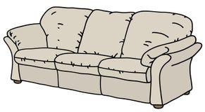 Biała wygodna kanapa ilustracji
