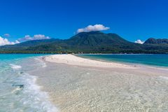 Bia?a wyspa, Camiguin, Filipiny fotografia royalty free
