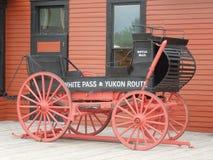 Biała Yukon trasa Royal Mail & przepustka Furmanimy obrazy royalty free