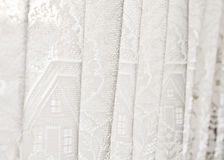 Biała zasłona Zdjęcie Stock