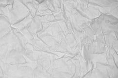 Biała zmięta papierowa pusta tło powierzchnia Pastel książkowej pokrywy farby odgórny widok; Szarej grunge powierzchni pergaminu  Obrazy Royalty Free