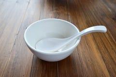 Biała zupna filiżanka Zdjęcia Royalty Free