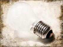 białe światła żarówki Ilustracji