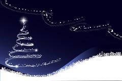 Białe Boże Narodzenia drzewni Zdjęcia Stock