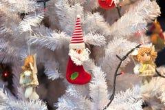 Białe Boże Narodzenia Drzewni Obrazy Royalty Free