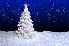 Białe Boże Narodzenia Drzewni Obraz Royalty Free