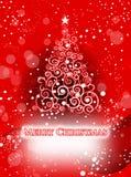Białe Boże Narodzenia drzewni Zdjęcie Royalty Free