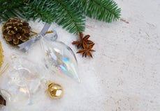 Białe Boże Narodzenia z śniegiem Fotografia Stock