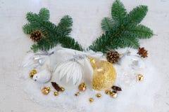 Białe Boże Narodzenia z śniegiem Obraz Stock