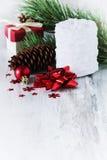 Białe Boże Narodzenie świeczka Obraz Stock