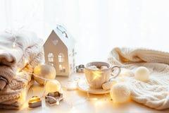 Białe Boże Narodzenie dekoracja zdjęcia stock