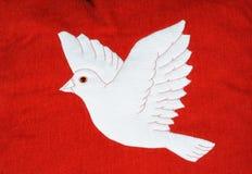 Białe Boże Narodzenie gołąbka. Fotografia Royalty Free