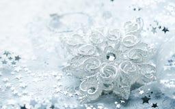 Białe Boże Narodzenie gwiazda Fotografia Royalty Free