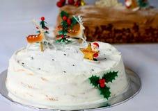 Białe Boże Narodzenie tort Zdjęcie Royalty Free
