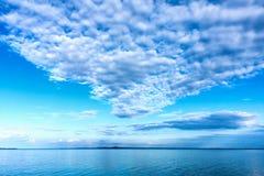 Białe cumulus chmury Obraz Stock