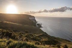 Białe falezy Dover w Anglia zdjęcie stock