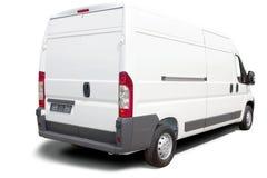białe furgonetki Obraz Stock