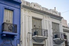 Białe i błękitne fasady Obrazy Royalty Free