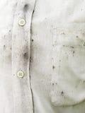 Białe koszula brudzą Zdjęcie Royalty Free